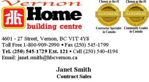 Home Building Centre Business Card - Janet Smith
