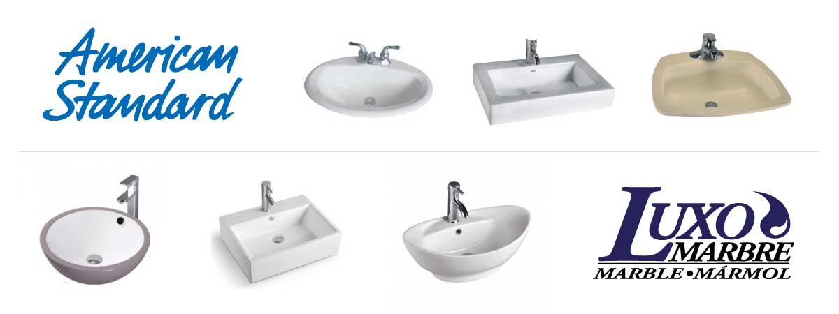 American Standard And Luxo Marbre Bath Sink Product Banner