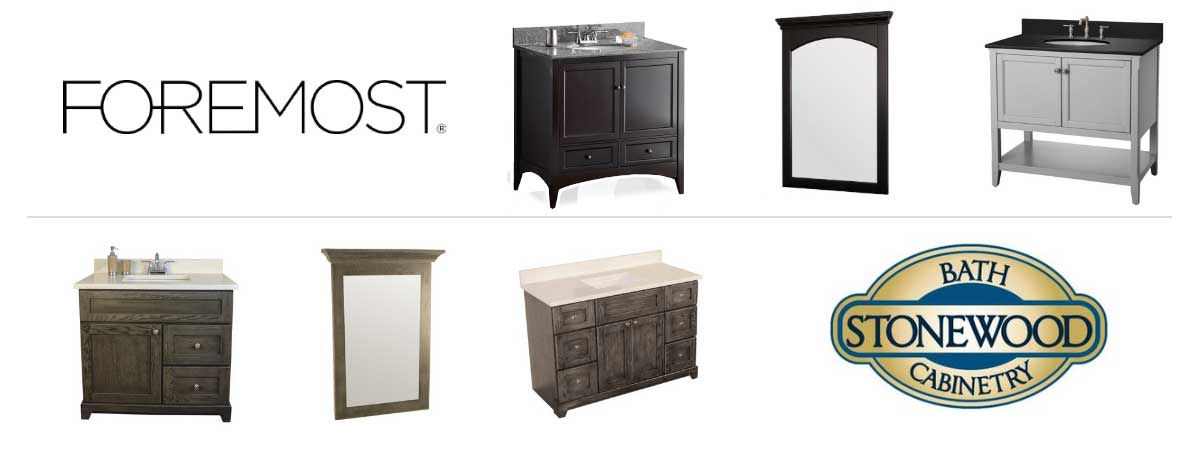 Foremost And Stonewood Bath Vanities and Mirror Products Banner