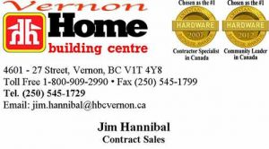 Home Building Centre Contract Sales-Jim Hannibal Business Card