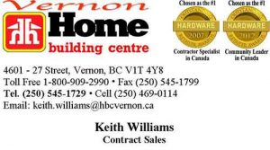Keith Williams Home Building Centre Business Card