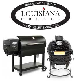 Louisiana Grills BBQ Grill and Logo