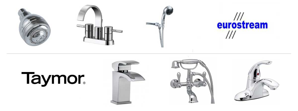 Taymor And EuroStream Bath Fixtures Product Banner