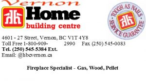 Home Building Centre Fireplace Specialist Vernon Business Card