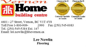 Home Building Centre Flooring Vernon Business Card