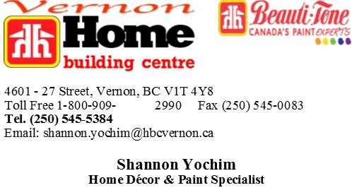 Paint and decor home building centre vernon bc home decor paint specialist business card vernon solutioingenieria Choice Image