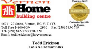 Business Card - Tools Contract Sales - Todd Erickson