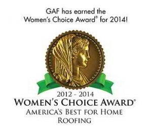 GAF Women's Choice Award For Roofing - 2012-2014