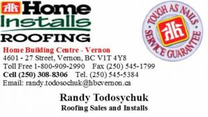 HBC Business Card - Randy Todosychuk-Roofing Sales Installs
