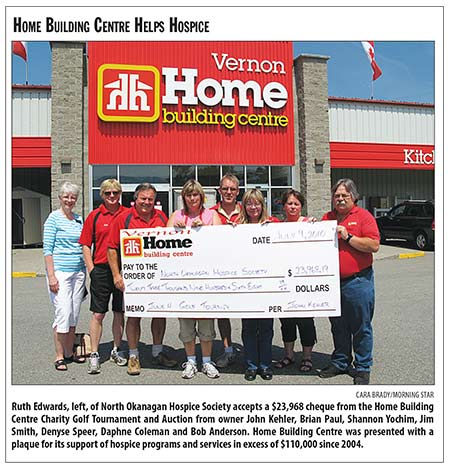 Hospice Home Building Centre Gives Money - 2010Aug25