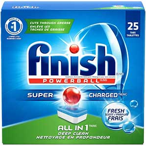 Finish 25 Tabs PowerBall Fresh Scent Dishwasher Detergent